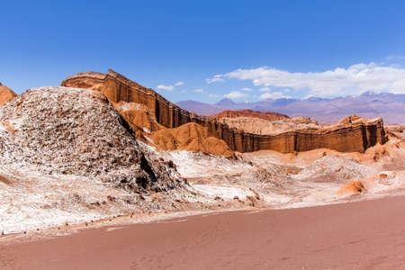 san pedro: The Moon Valley (Valle de la Luna) in the Atacama desert