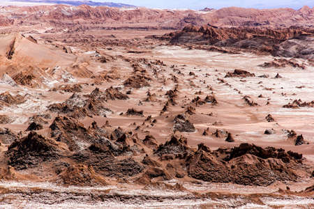 moon  desert: The Moon Valley (Valle de la Luna) in the Atacama desert