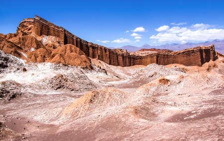 LUNA: The Amphitheater in the Valle de la Luna, Atacama, Chile Stock Photo