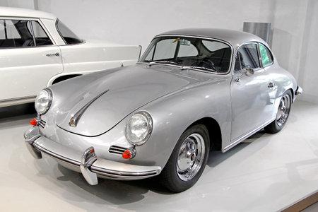 BERLIN, GERMANY - AUGUST 16, 2014: German retro car Porsche 356 in the German Museum of Technology (Deutsches Technikmuseum Berlin).