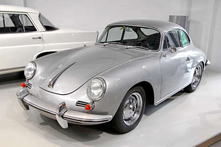 BERLIN, GERMANY - AUGUST 16, 2014: German retro car Porsche 356 in the German Museum of Technology (Deutsches Technikmuseum Berlin).