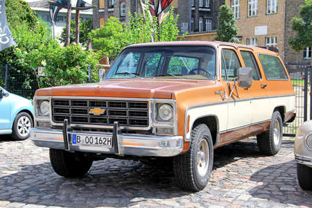 silverado: BERLIN, GERMANY - AUGUST 12, 2014: American classic truck Chevrolet Silverado in the museum of vintage cars Classic Remise. Editorial