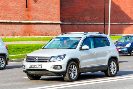 MOSCOW, RUSSIA - MAY 5, 2012: Motor car Volkswagen Tiguan in the city street.