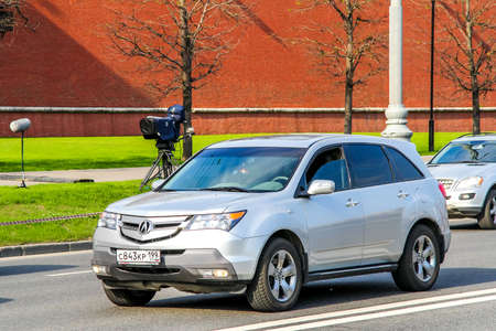 acura: MOSCOW, RUSSIA - MAY 5, 2012: Motor car Acura MDX in the city street.