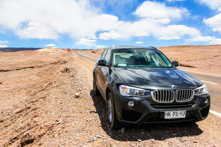 ANTOFAGASTA, CHILE - NOVEMBER 15, 2015: Motor car BMW F26 X4 at the interurban road. Editorial