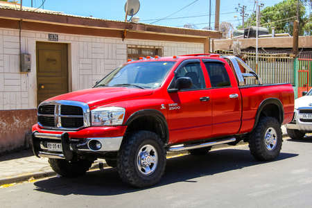 CALAMA, CHILE - NOVEMBER 16, 2015: Pickup truck Dodge Ram 2500 in the city street. Editorial