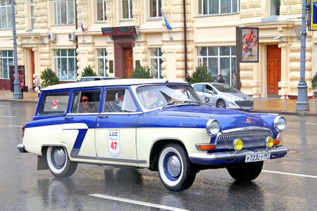 MOSCOW, RUSSIA - JUNE 3, 2012: Soviet motor car GAZ 22 Volga competes at the annual L.U.C. Chopard Classic Weekend Rally. Editorial