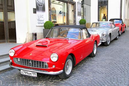 MOSCOW, RUSSIA - JUNE 3, 2012: Italian sportscar Ferrari 250GT competes at the annual L.U.C. Chopard Classic Weekend Rally. Editorial