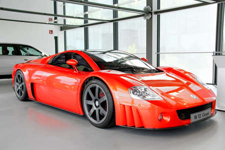 proto: WOLFSBURG, GERMANY - AUGUST 14, 2014: German concept of the sportscar Volkswagen W12 Coupe at the museum of the Volkswagen Autostadt. Editorial