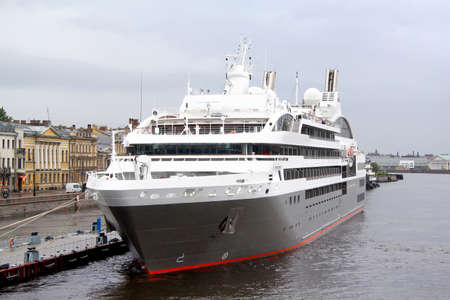 boreal: SAINT PETERSBURG - MAY 26, 2013: Le Boreal cruise ship in at the Neva river in Saint Petersburg, Russia. Editorial