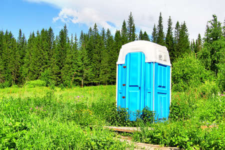 Composting toilet in a forest