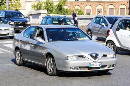 romeo: ROME, ITALY - AUGUST 1, 2014: Motor car Alfa Romeo 166 in the city street. Editorial