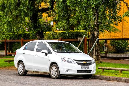 VILLARRICA, CHILE - NOVEMBER 20, 2015: Motor car Chevrolet Sail in the town street. Editorial