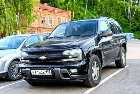 PLYOS, RUSSIA - JULY 23, 2014: Motor car Chevrolet Trail Blazer in the town street. Editorial