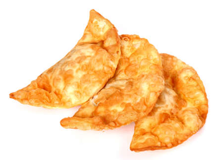 Chebureki isolated over white background