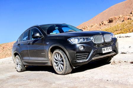 ANTOFAGASTA, CHILE - NOVEMBER 16, 2015: New black crossover BMW F26 X4 in the Atacama desert.
