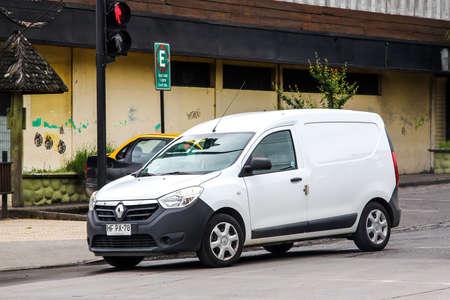 VILLARRICA, CHILE - NOVEMBER 20, 2015: Cargo van Renault Dokker in the city street.
