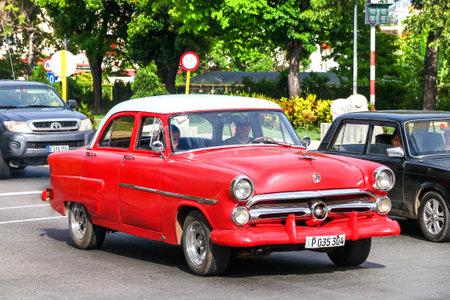 HAVANA, CUBA - JUNE 6, 2017: Motor car Ford Mainline in the city street.