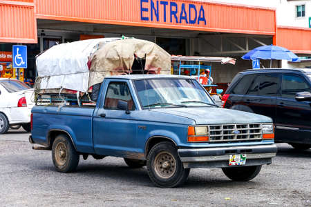 PALENQUE, MEXICO - MAY 22, 2017: Pickup truck Ford Ranger in the city street. Editorial