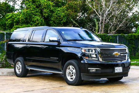 ACAPULCO, MEXICO - MAY 29, 2017: Motor car Chevrolet Suburban in the city street.