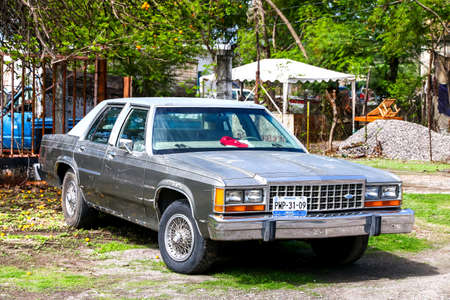 GUERRERO, MEXICO - JUNE 1, 2017: Motor car Ford LTD Crown Victoria at the countryside. Editorial