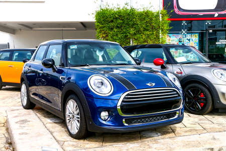 CANCUN, MEXICO - JUNE 4, 2017: Motor car Mini Cooper in the city street. Editorial