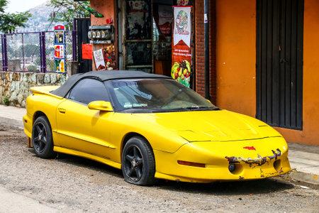 OAXACA, MEXICO - MAY 25, 2017: Motor car Pontiac Firebird in the city street.