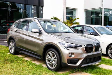 CANCUN, MEXICO - JUNE 4, 2017: Motor car BMW X1 (F48) in the city street. Editorial