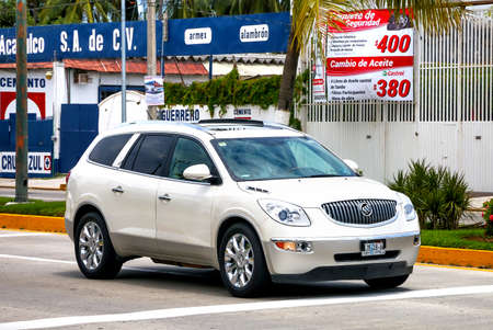 ACAPULCO, MEXICO - MAY 28, 2017: Motor car Buick Enclave in the city street.