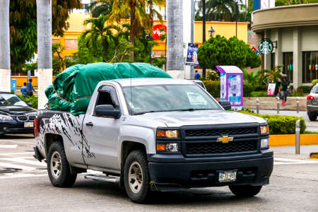 ACAPULCO, MEXICO - MAY 30, 2017: Pickup truck Chevrolet Cheyenne in the city street. Editorial