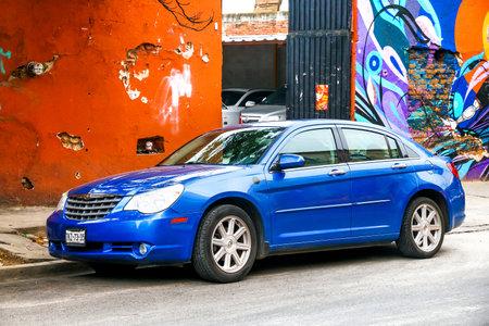 OAXACA, MEXICO - MAY 25, 2017: Motor car Chrysler Sebring in the city street.