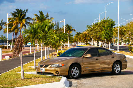 CAMPECHE, MEXICO - MAY 20, 2017: Motor car Pontiac Grand Prix in the city street. Editorial