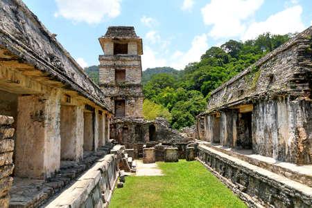 Ancient Maya ruins in Palenque, Chiapas, Mexico