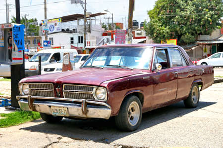 Acapulco, Mexico - May 31, 2017: Motor car Plymouth Valiant in the city street.