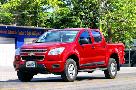 Palenque, Mexico - May 22, 2017: Pickup truck Chevrolet Colorado in the town street. Editorial
