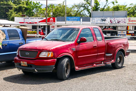 Palenque, Mexico - May 22, 2017: Pickup truck Ford F-150 in the city street.