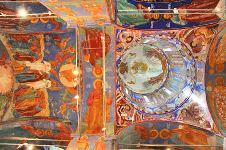 Ceiling of the Church of Transfiguration in Monastery of Saint Euthymius in Suzdal, Russia