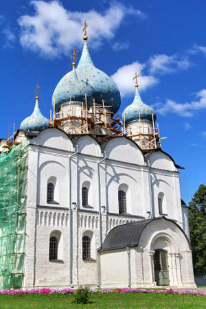Cathedral of the Nativity of the Theotokos in Suzdal Kremlin, Suzdal, Russia Stock Photo