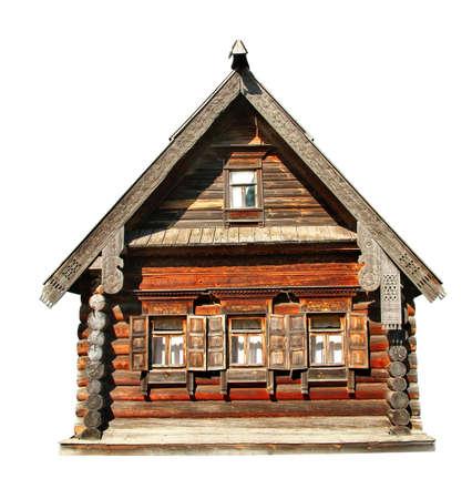 Wood house isolated