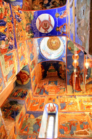 Interior of the Church of Transfiguration in Monastery of Saint Euthymius in Suzdal, Russia Editorial