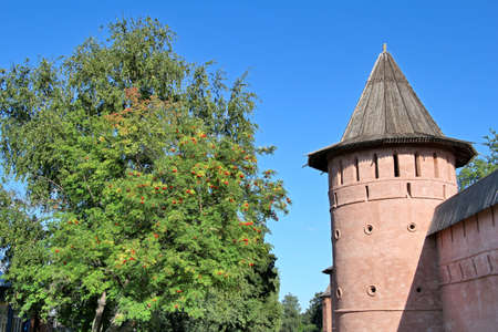Wall of Monastery of Saint Euthymius in Suzdal, Russia