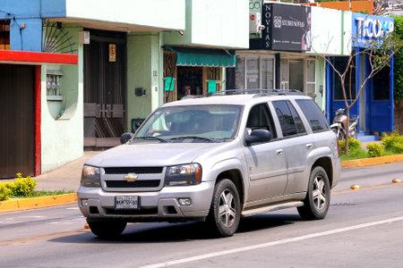 Oaxaca, Mexico - May 25, 2017: Motor car Chevrolet TrailBlazer in the city street. Editorial