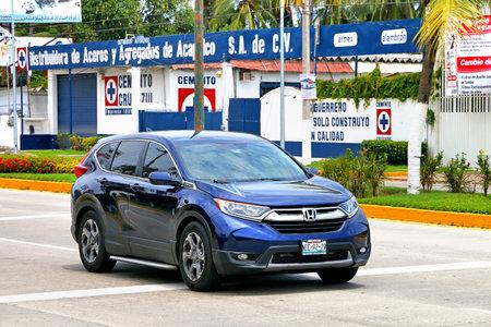 Acapulco, Mexico - May 28, 2017: Motor car Honda CR-V in the city street.
