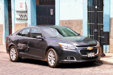 Oaxaca, Mexico - May 25, 2017: Motor car Chevrolet Malibu in the city street. 報道画像