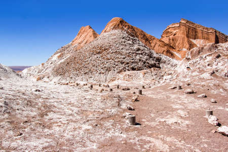 The Moon Valley (Valle de la Luna) in the Atacama desert, Chile