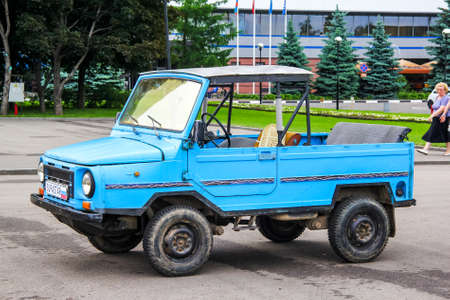 Moscow, Russia - June 2, 2013: Soviet off-road car LuAZ 1302 Volyn in the city street.