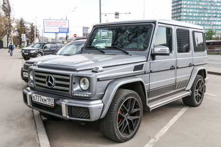 Moscow, Russia - March 2, 2018: Motor car Mercedes-Benz W463 G-class in the city street.