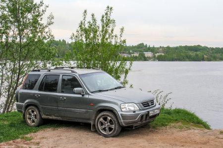 Plyos, Russia - May 16, 2018: Motor car Honda CR-V at the countryside. Editorial