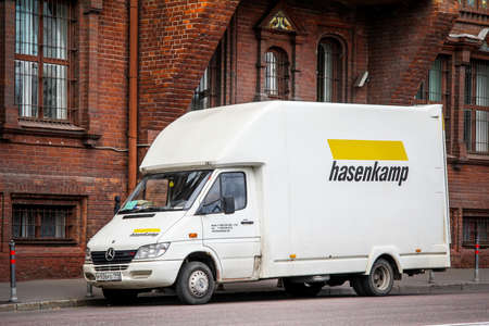 Moscow, Russia - July 7, 2012: Cargo van Mercedes-Benz Sprinter 413CDI in the city street. Editorial