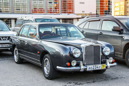 Ufa, Russia - September 30, 2011: Motor car Mitsuoka Galue in the city street.
